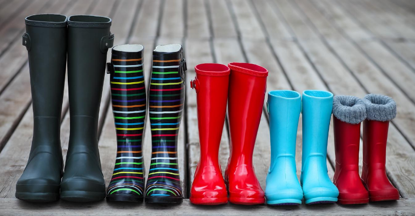 Large Family Homeschooling - boots image