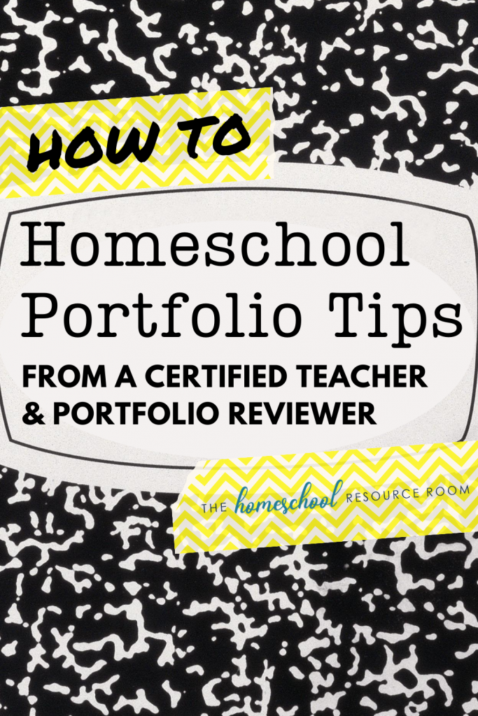 Setting up your homeschool portfolio - tips and tricks from a certified teacher who performs annual portfolio reviews for homeschool families! #homeschooling #homeschoolportfolio #homeschoolcompliance #assessment
