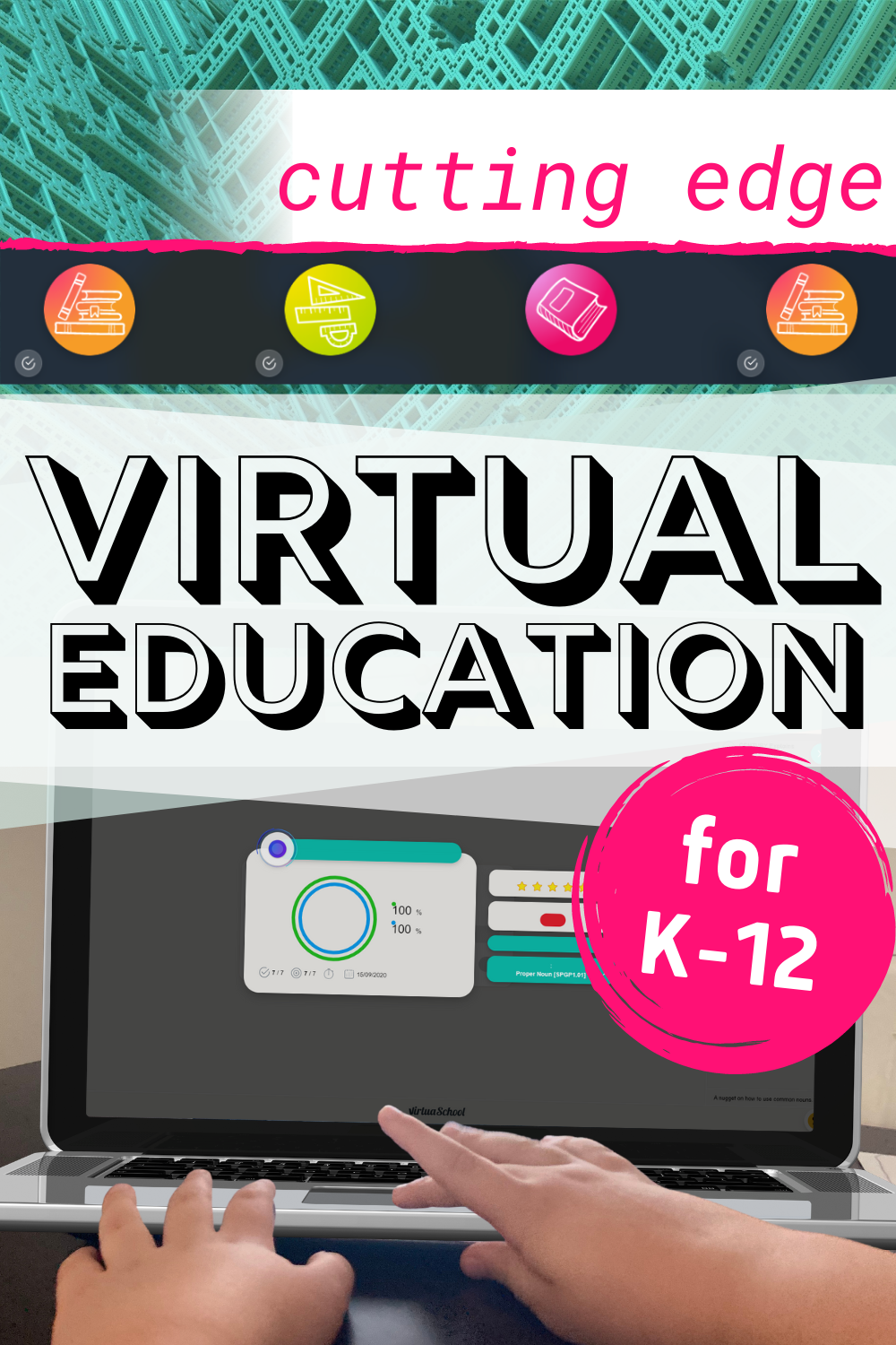 Virtual Education with Virtua from Homeschool Buyers Co-op. Affordable online learning from K-12. #homeschool #onlinelearning