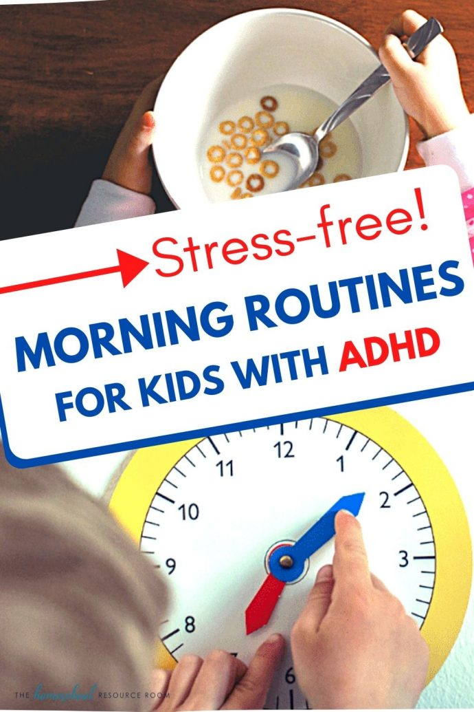 Make your morning routine STRESS FREE! Tips and tricks for managing your mornings with kids struggling with ADHD.