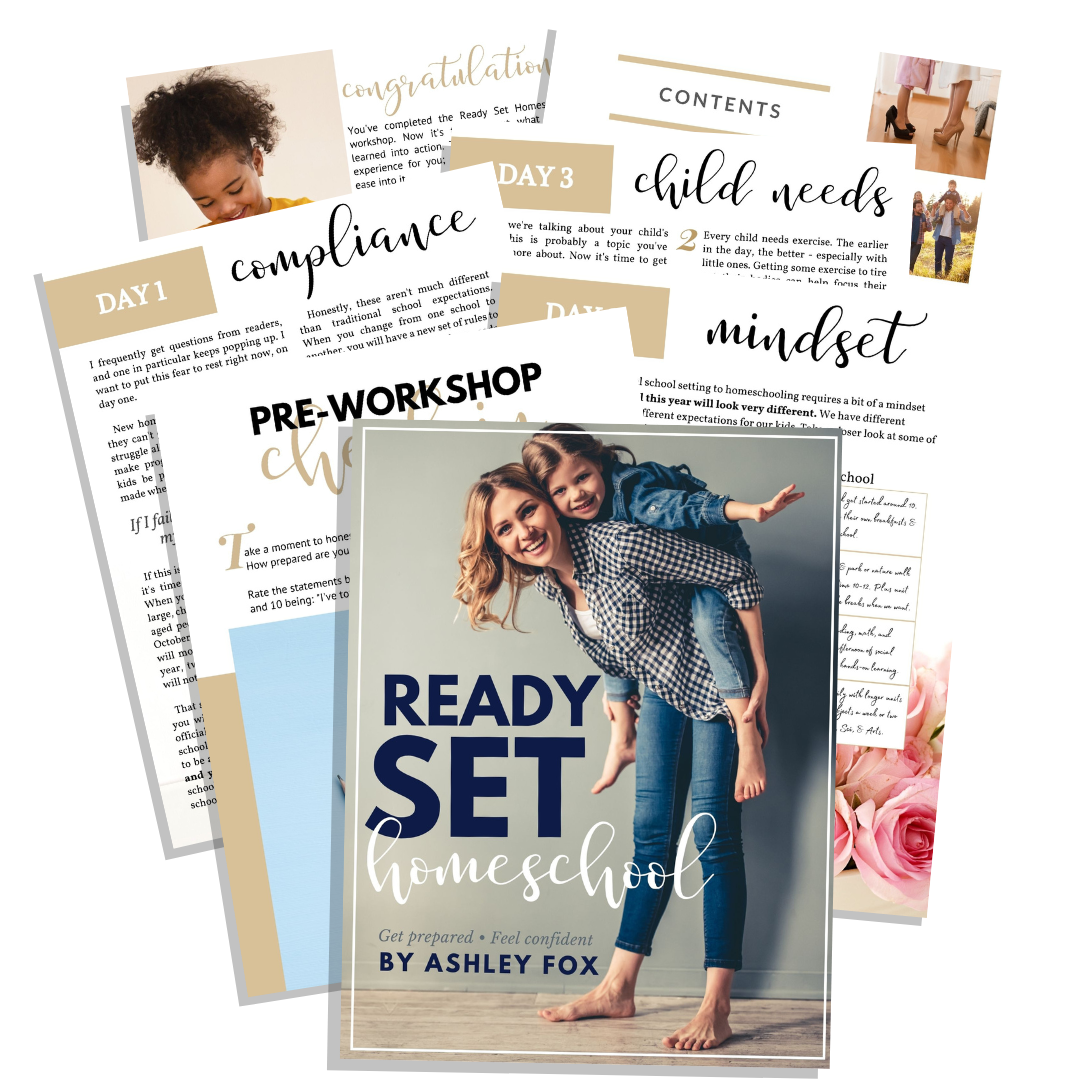 Ready Set Homeschool Workboook- Get prepared, Feel confident!