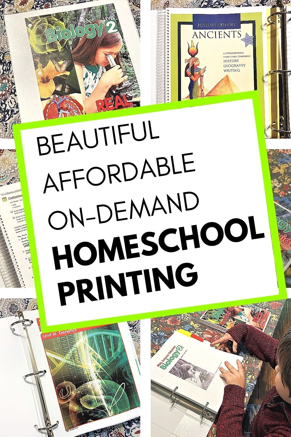 Beautiful, affordable, on-demand homeschool printing by Family Nest Printing.
