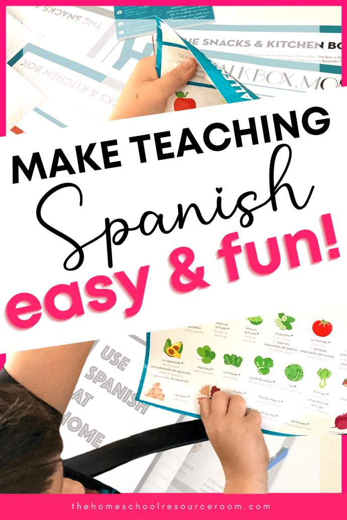 Easy and FUN homeschool Spanish curriculum in a surprise box! Check out our review of this unique alternative to foreign language instruction at home.