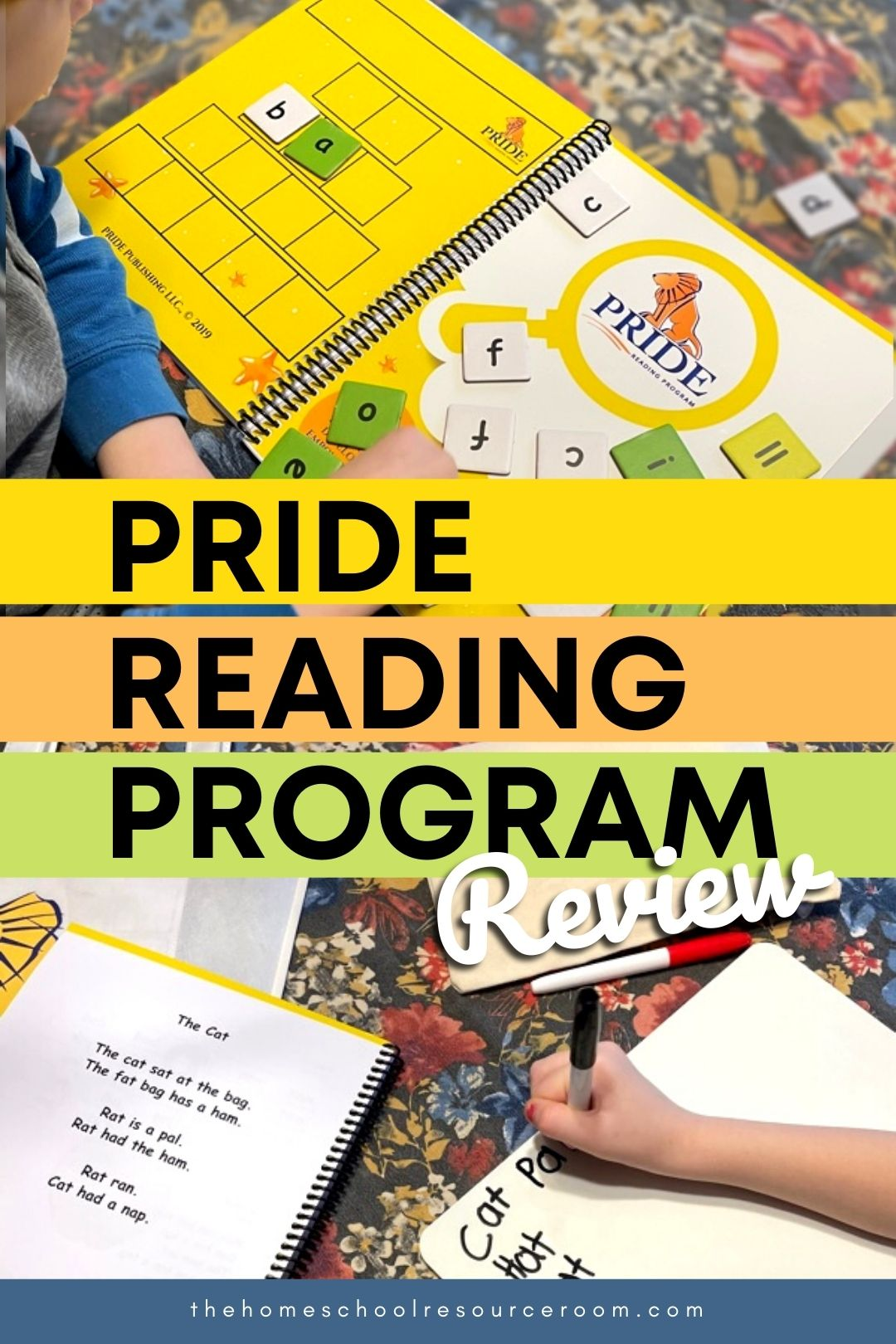 Pride Reading Program Review - an Orton Gillingham based learn-to-read curriculum for homeschoolers. #homeschool #homeschoolcurriculum #learntoread