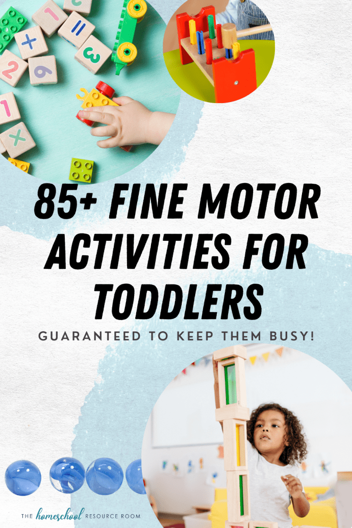 85+ fine motor activities for toddlers. Guaranteed to keep them busy!!