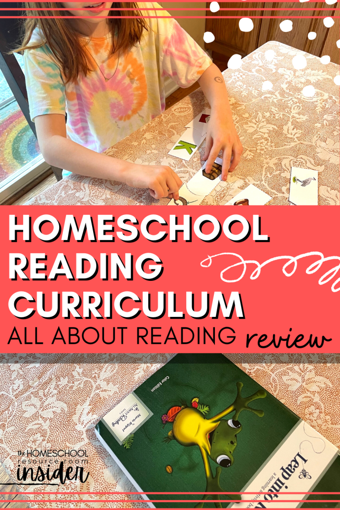 Homeschool Reading Curriculum: Our experience, review, and recommendations for All About Reading Level 2 learn-to-read phonics program.