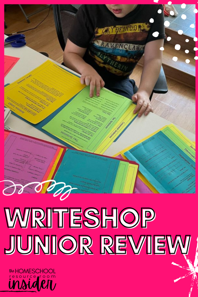 WriteShop Review: Our year-end review of WriteShop Junior, a thorough and easy-to-use program that got my son EXCITED about writing. A first for us!!!