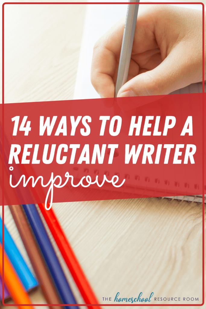 14 ways to help a reluctant writer improve! Tips for teaching writing