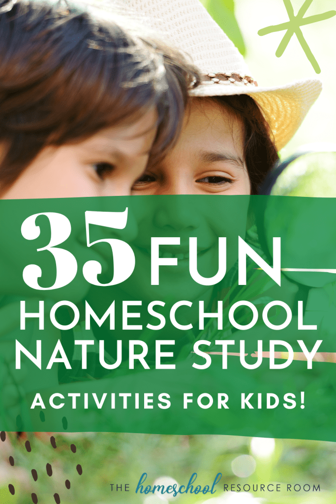 Doing a homeschool nature study might seem daunting, but it shouldn't be. These 35+ simple tools and activities will get you out the door!