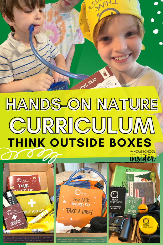 Engaging, hands-on Nature Curriculum: Our experience and recommendations for Think Outside Boxes, an outdoor subscription box and homeschool curriculum.