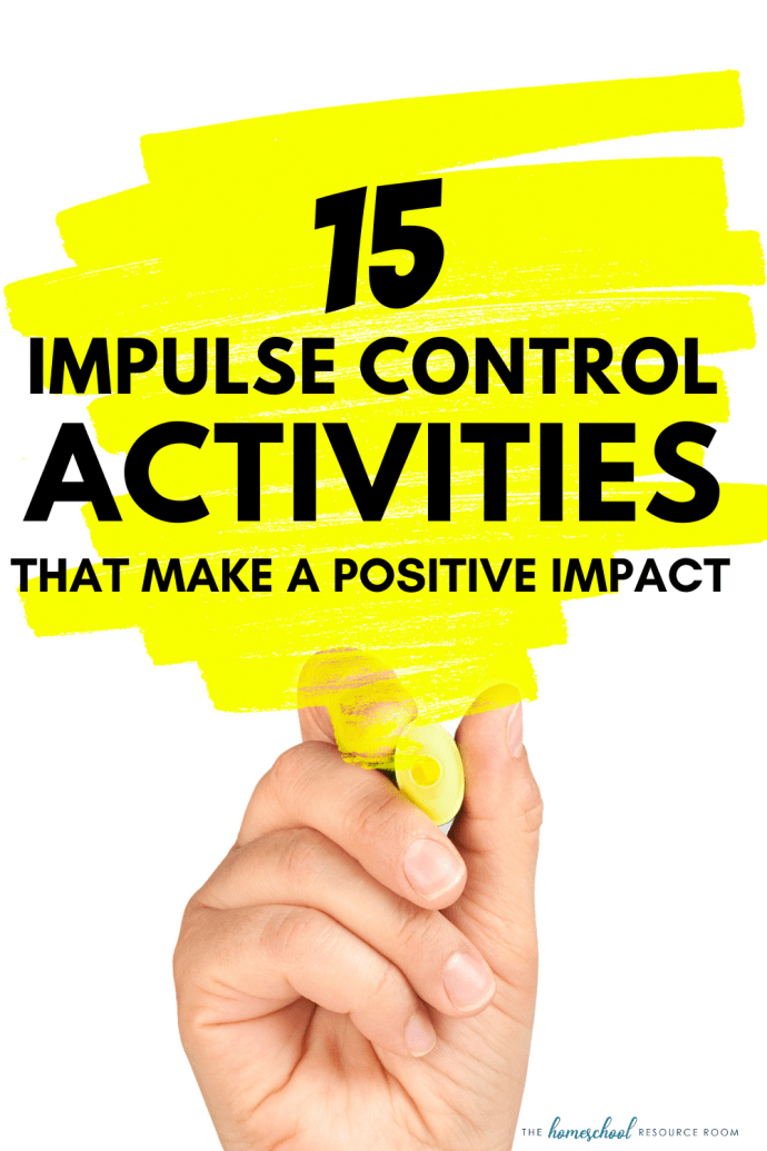 15 impulse control activities for kids that struggle with executive dysfunction. Make a positive impact at home or in the classroom.