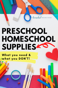 Preschool homeschool supplies: What You Need, What You Don't, and What to Splurge On