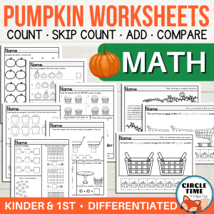 Pumpkin Counting Worksheets